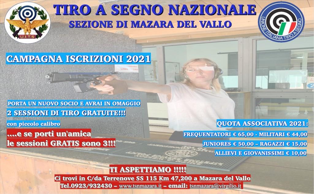 PROMOZIONE ISCRIZIONE 2021 TSN MAZARA
